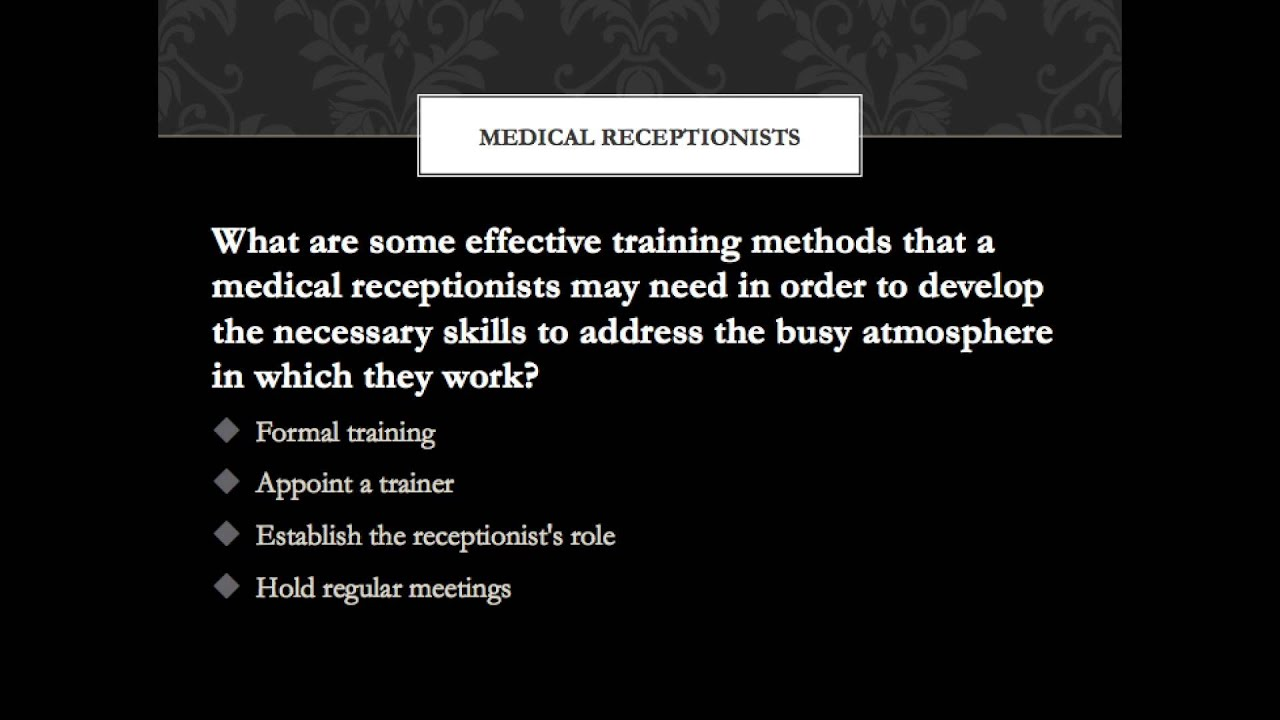 medical receptionist training video tips youtube rh youtube com receptionist training manual office receptionist training manual veterinary