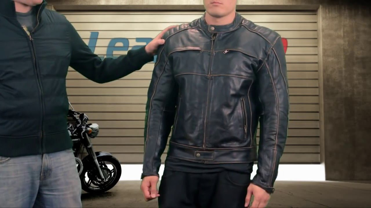 Xelement Boone Charcoal Mens Dark Brown Leather Jacket At