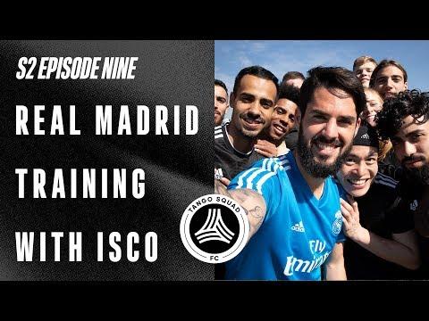Real Madrid Training With Isco   Tango Squad FC