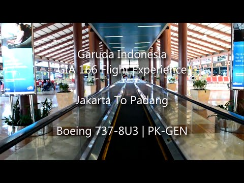 Garuda Indonesia GA166 Flight Experience Jakarta to Padang