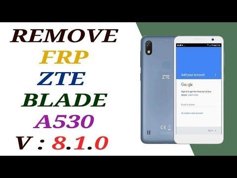 حذف جوجل أكونت من REMOVE FRP ZTE BLADE A530 الاصدار 8 1 0