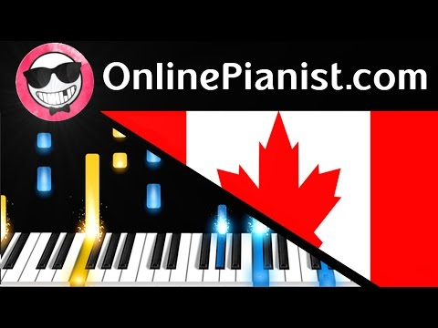 Canada National Anthem - O Canada - Piano Tutorial - How To Play (Easy & Advanced)