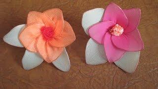 Цветы из капрона. Flowers of nylon(Цветы из капрона. Как сделать цветы из капроновых колготок. Flowers of nylon. How to make flowers from nylon stockings., 2015-10-15T20:26:26.000Z)