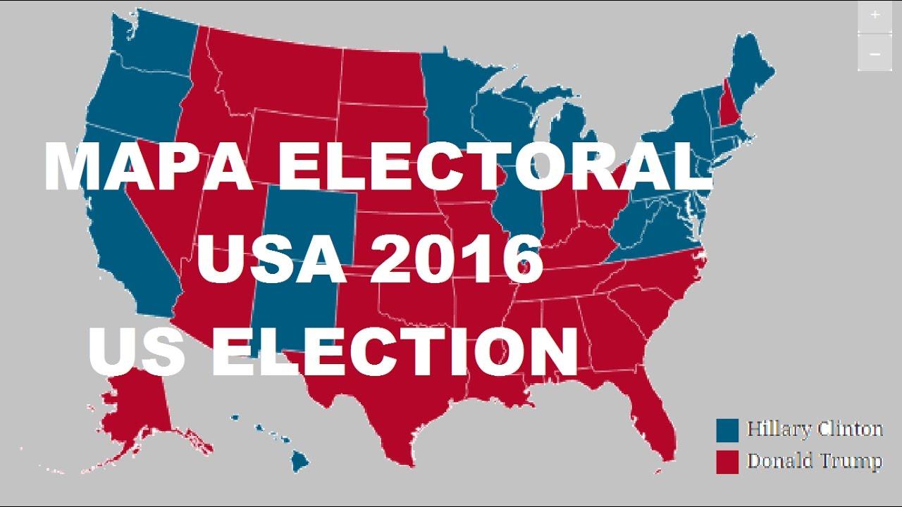 mapa electoral usa 2016 segun las encuestas previo al dia. Black Bedroom Furniture Sets. Home Design Ideas