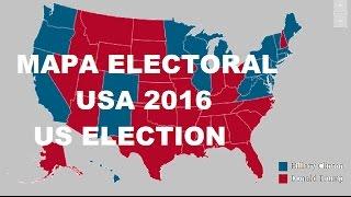 MAPA ELECTORAL USA 2016 SEGUN LAS ENCUESTAS PREVIO AL DIA ELECCIÓN