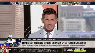 First Take 9/10/19 | Confident Antonio Brown drama is over for this season?