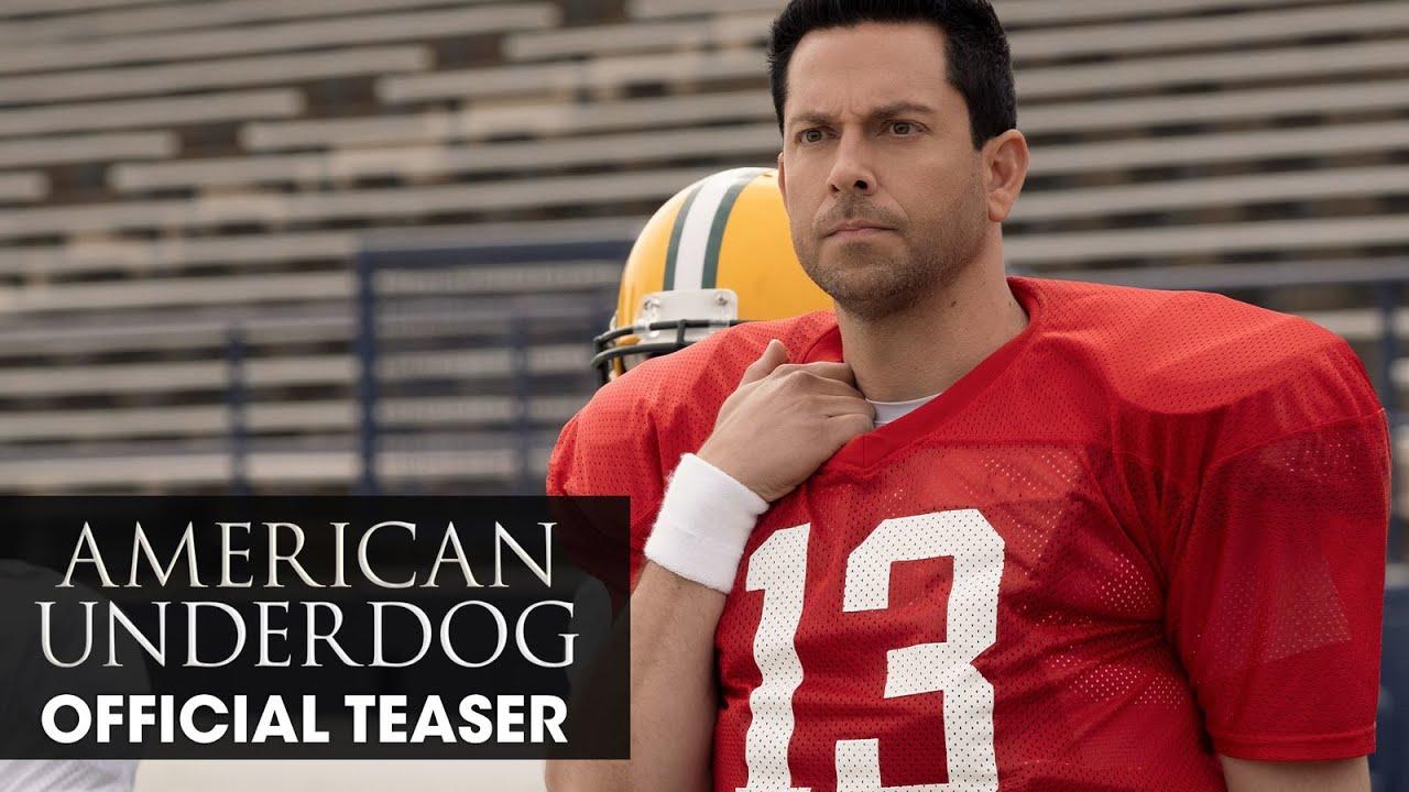 Download American Underdog (2021 Movie) Teaser Trailer - Zachary Levi, Anna Paquin, and Dennis Quaid