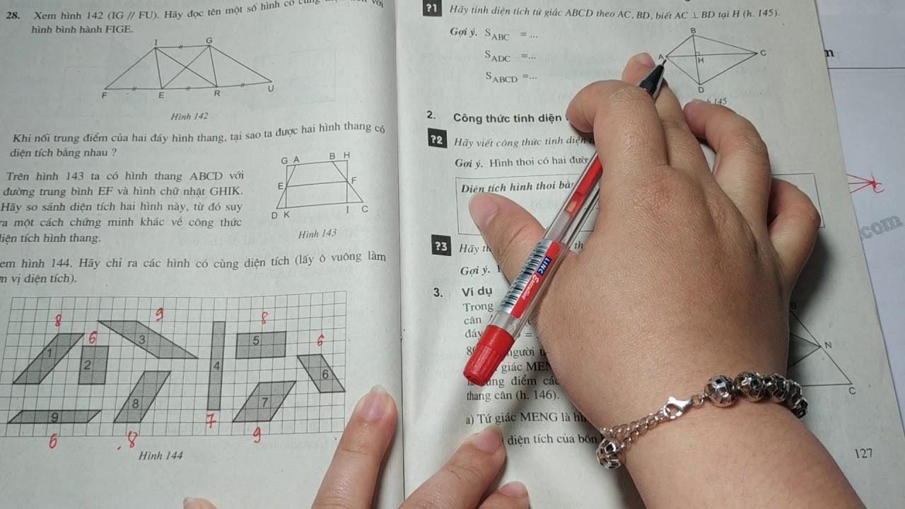 Giải bài 32 trang 128 SGK toán 8 tập 1