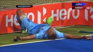 Malaysia 2-6 India   Super 4s   Hoki Piala Asia 2017   Astro Arena
