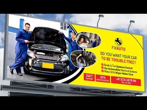 Billboard design in Photoshop   How to Design a Billboard in Photoshop cs6