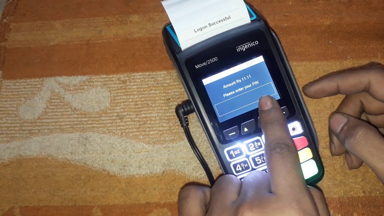 Ingenico Move 2500 Using First Data ICICI