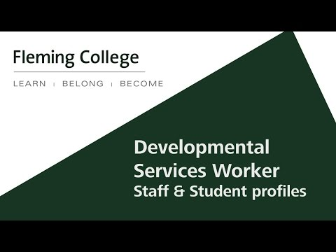 Developmental Services Worker Fleming College