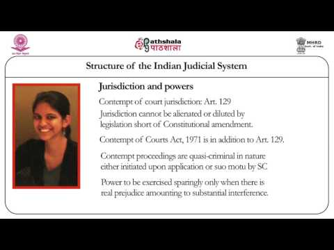 Structure of the Indian judicial system (Law)