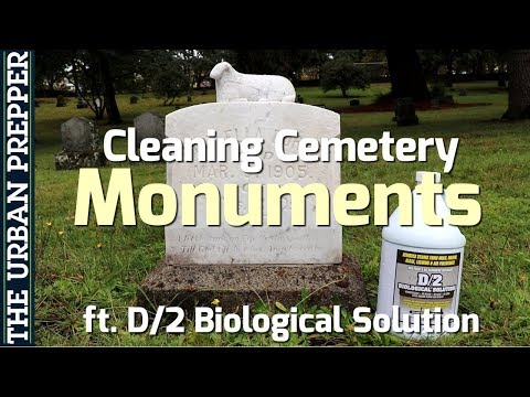 Cleaning Cemetery Monuments: Ft. D/2 Biological Solution