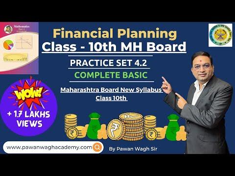 Financial Planning | Basic of Practice Set 4.2 | Class 10th Maharashtra Board New Syllabus Part 3