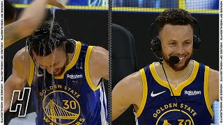 Stephen Curry Gets Soaked After Dropping 53 Points, Postgame Interview vs Nuggets | April 12, 2021