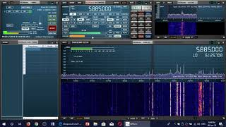 Voice of America French via Botswana relay on 5885 Khz Shortwave Sdrplay RSP1A