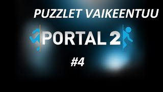 Portal 2 Singplayer Let's Play -4-PUZZLET VAIKEENTUU
