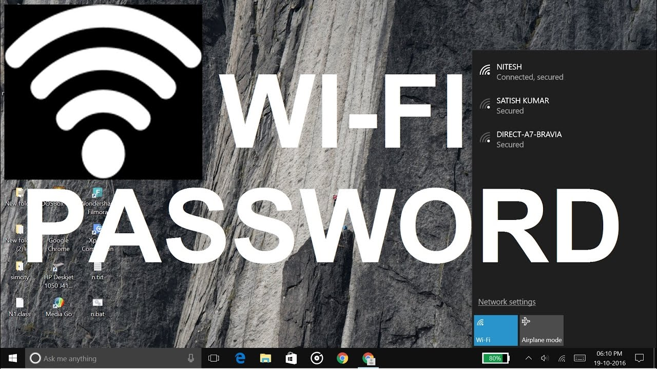 how to know my wifi password using cmd