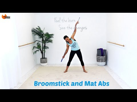 Pilates Fusion Abs Core Workout - Broomstick and Mat Abs BARLATES BODY BLITZ