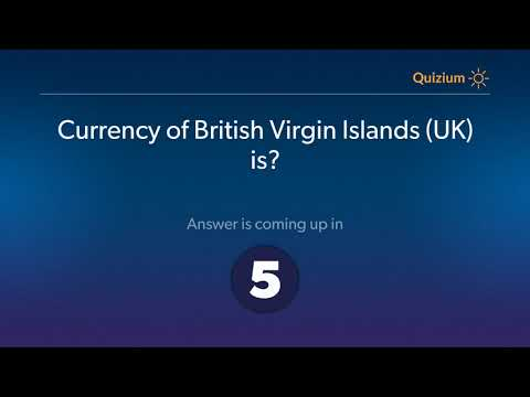 Currency of British Virgin Islands UK is?   Countries and Currencies Quiz