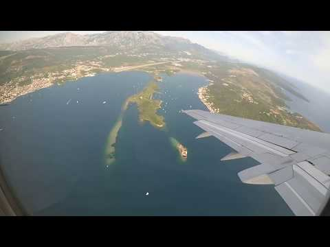 Взлёт из аэропорта Тиват, Черногория 2019, Boeing 737-500, EW-294PA, Belavia