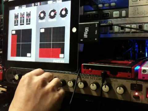 iPadの画面操作でラックエフェクター(ZOOM 1204)をコントロール