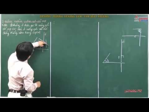 Hình học 11 - Hai đường thẳng vuông góc - Ứng dụng của tích vô hướng