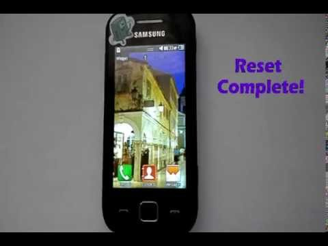 how to reset a samsung gt s5253 wave 525 youtube rh youtube com Samsung Galaxy S3 User Guide Manual Samsung UN32EH4000F