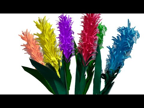 Beautiful Flower with Paper / Simple And Beautiful Stick Flower / DIY Paper Flowers / Handcrafts