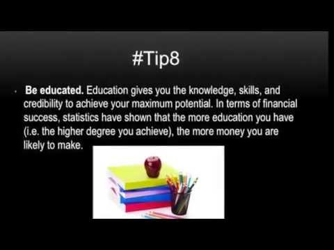 Top Ten Tips To Be Successful
