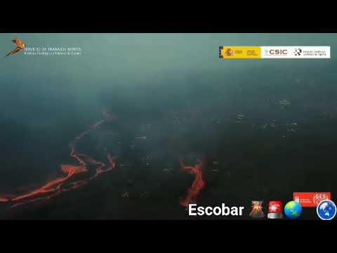 Novo fluxo de lava do vulcão La Palma preocupa os especialistas, pois vai direto para um complexo in
