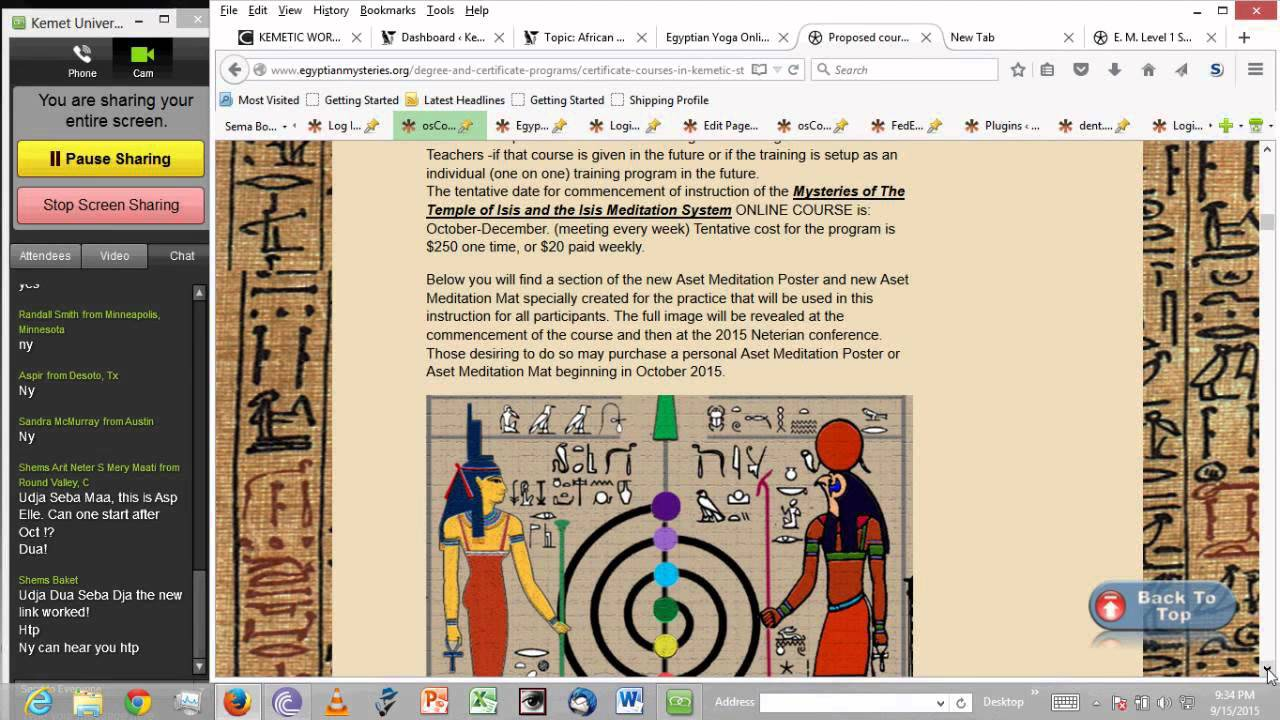 Kemet University Egyptian Mystery School Teachings of the Temple of Aset  Course overview program ove