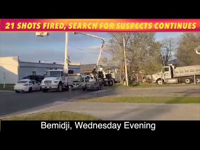 EXCLUSIVE VIDEO UPDATE: 21 Shots Fired, Search For 2 Suspects In Bemidji Continues