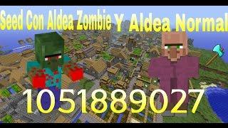 Minecraft pe 0.15.0/ extraña seed de aldea con aldeanos zombies