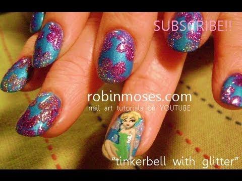 Nail art diy tinker bell nails disney short nail design nail art diy tinker bell nails disney short nail design tutorial prinsesfo Images