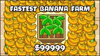 WORLD RECORD: THE FASTEST BANANA FARM EVER!! | Bloons TD Battles Hack/Mod (BTD Battles)