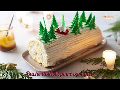 bûche-de-noël-poire-caramel---recettes-faciles-odelices