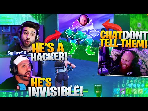 We Found An INVISIBLE MECH HACKER! It Was Tim!? Ft. Nick, Tim, HD (Fortnite Battle Royale)