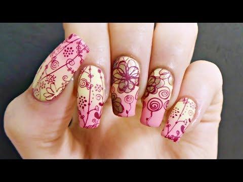 Pink & Yellow Floral Nail Art Tutorial thumbnail