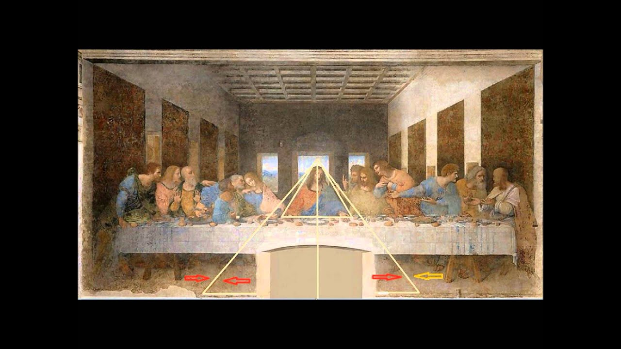 One of Da Vinci's secrets behind his last supper painting ... Da Vinci Paintings Secrets