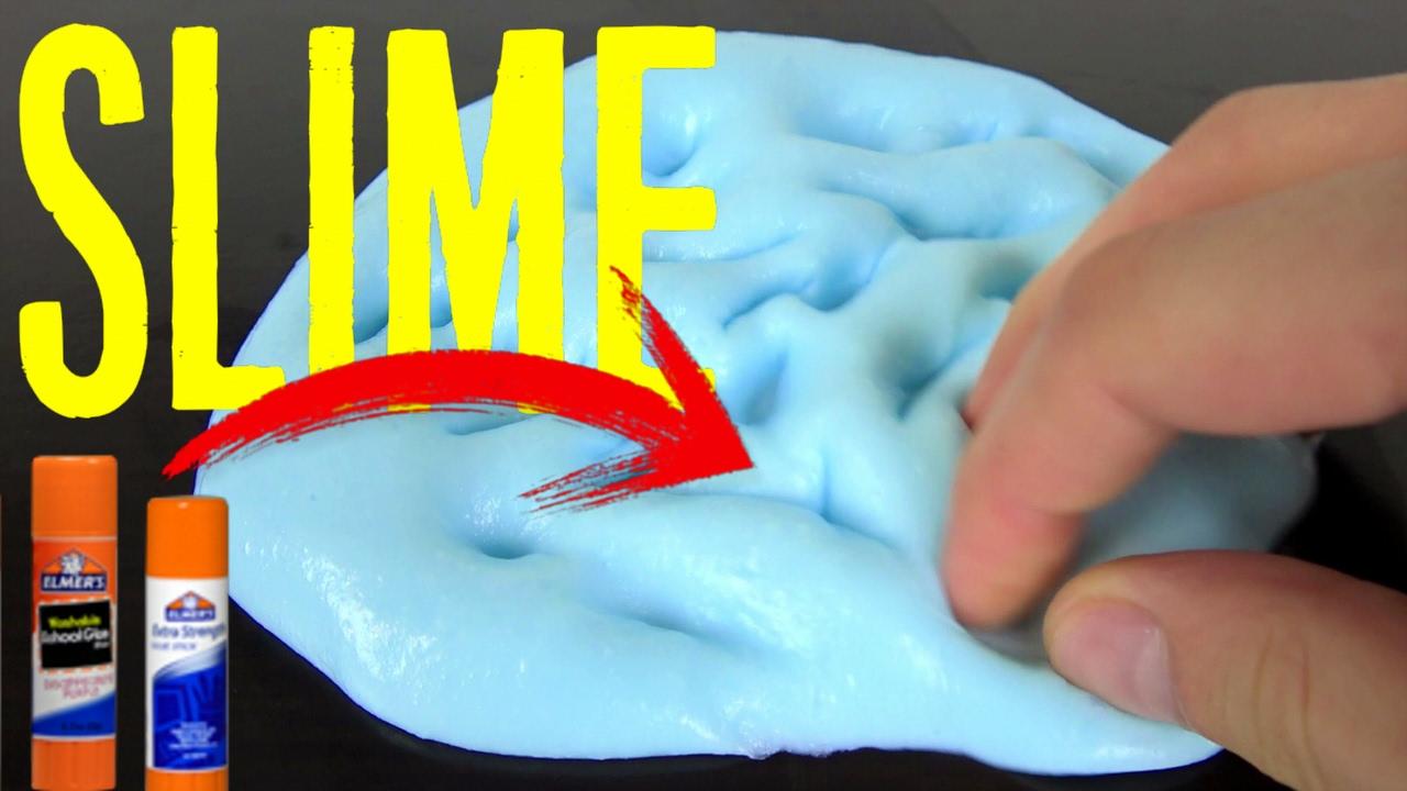Slime Con Pegamento En Barra Youtube