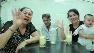 Vlog ăn vặt 11 ll Ngân Trổ Tài Nấu Sữa Bắp Có Ông Ngoại Tham Gia