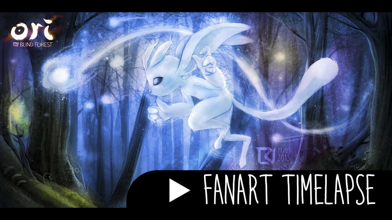 Ori And The Blind Forest Fanart Timelapse Youtube