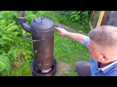 Печь для казана из газового баллона