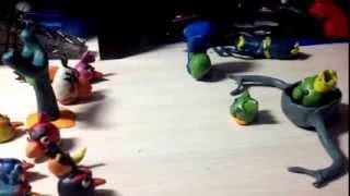 Angry birds пластилин
