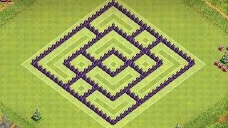 CLASH OF CLANS - TH7 FARMING BASE BEST TOWN HALL 7 Defense With Air Sweeper