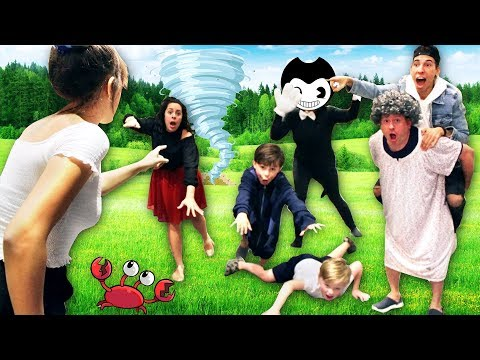 Mother May I? with Granny, Hello Neighbor and Bendy in Real Life!
