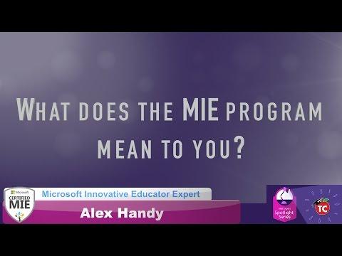 Alex Handy: What makes the MIE program so special?