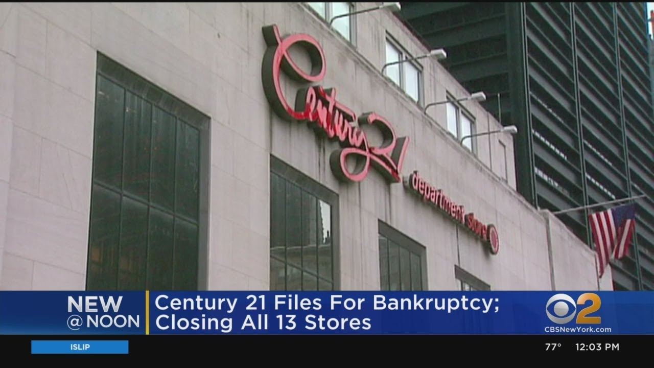 Century 21 Files for Bankruptcy, to Close All 13 Stores